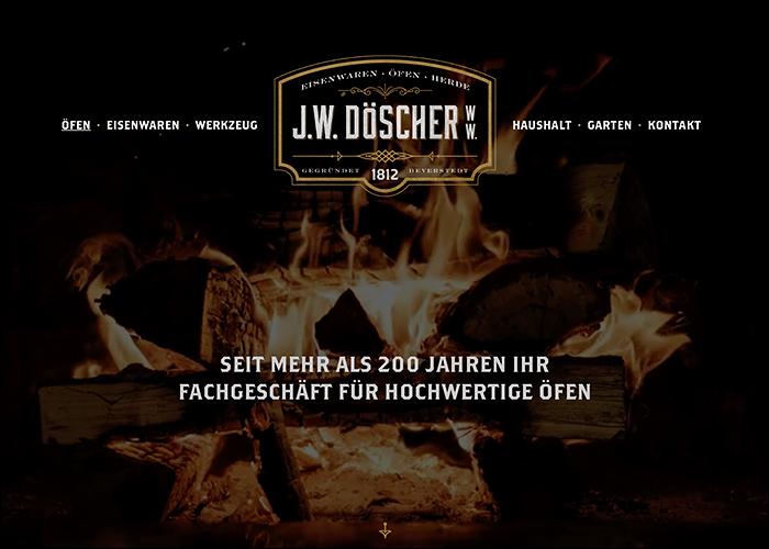 J.W. Döscher|Stoves, Ovens & Ironware.