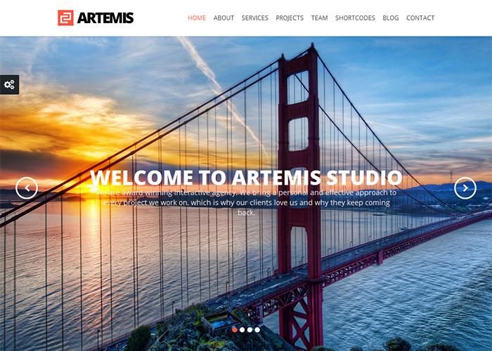 Artemis Responsive One Page Parallax WordPress Theme