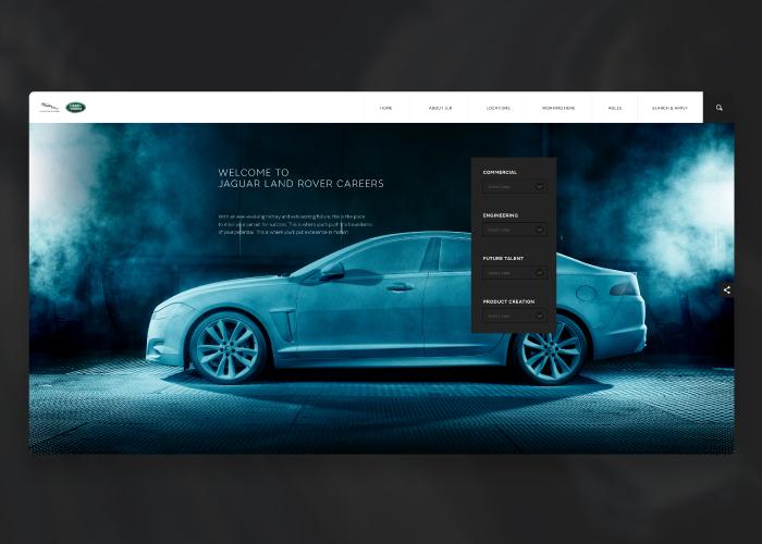 Jaguar Land Rover Careers Awwwards Nominee