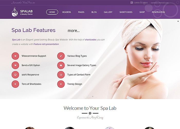 Spa Lab Beauty Salon Wordpress Theme Awwwards Nominee