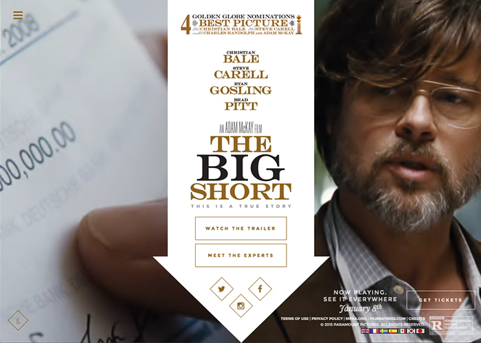 The Big Short Official Website