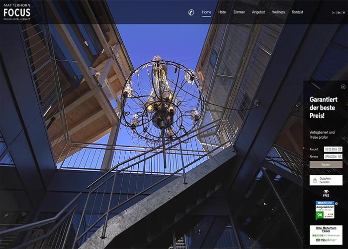 Design hotel matterhorn focus awwwards nominee for Design hotel matterhorn focus