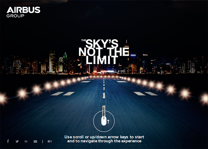 airbus group the sky is not the limit awwwards nominee. Black Bedroom Furniture Sets. Home Design Ideas