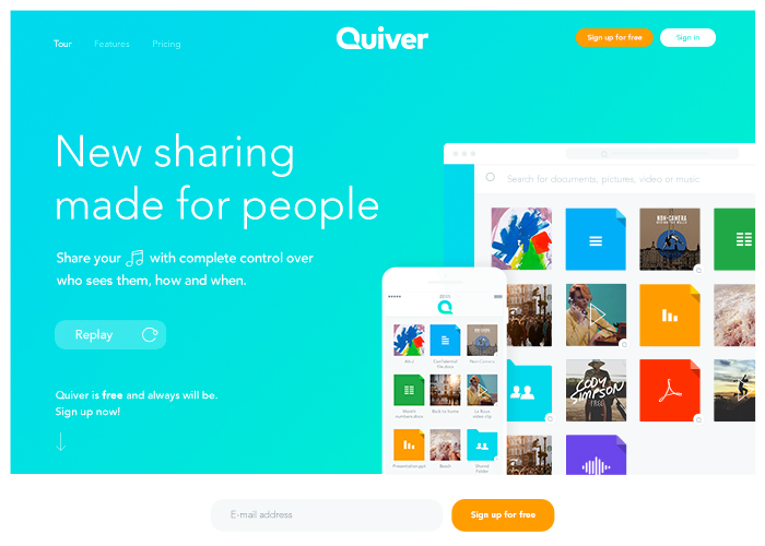Quiver, new sharing made for people.
