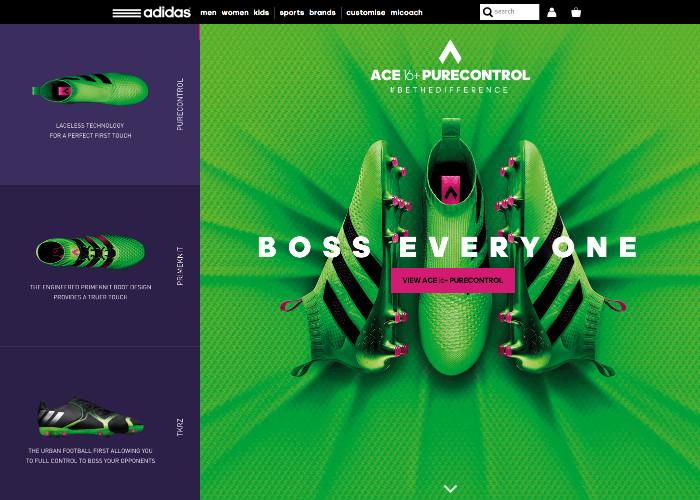 adidas ACE 16 - Awwwards SOTD 189691f58