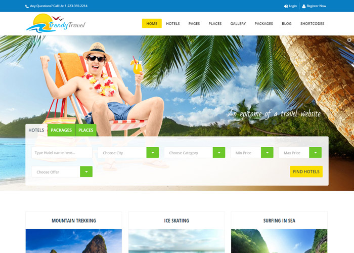 Trendy Travel Multipurpose Tour Package WP Theme