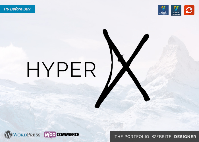 HyperX - Portfolio for Freelancers & Agencies. 11 themes in 1
