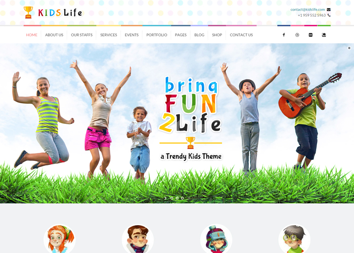 Kids Life | Children WordPress Theme - Awwwards Nominee