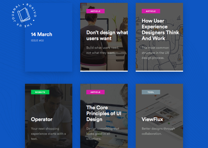 THE UX JOURNAL by Rokivo