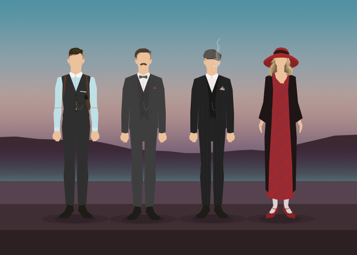 Peaky Blinders, a graphic tribute