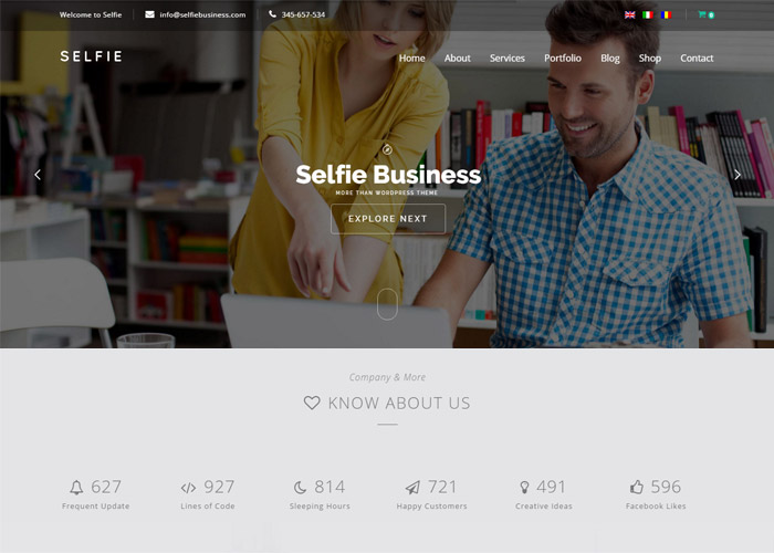 Selfie | Responsive Multi-Purpose WordPress Theme