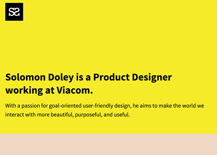 Solomon Doley - New York Based Creative Professional