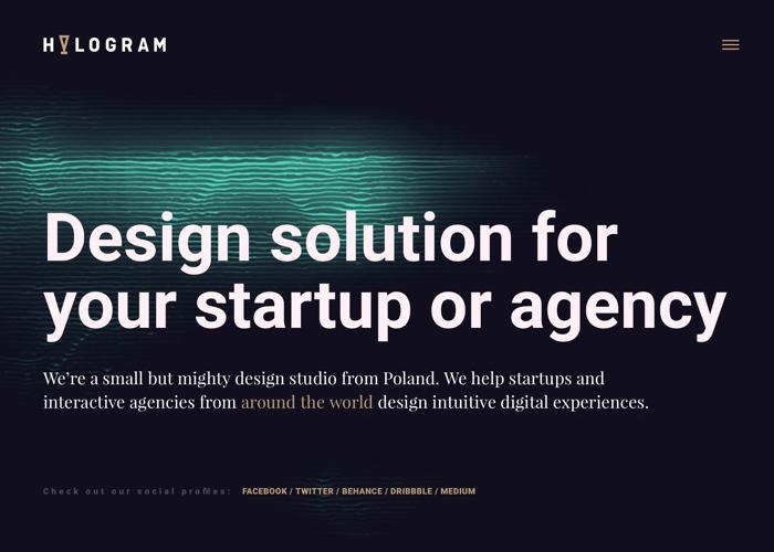 Hologram Design Website