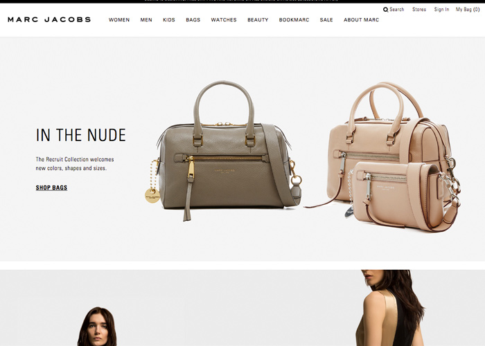 Re-launch of MarcJacobs.com