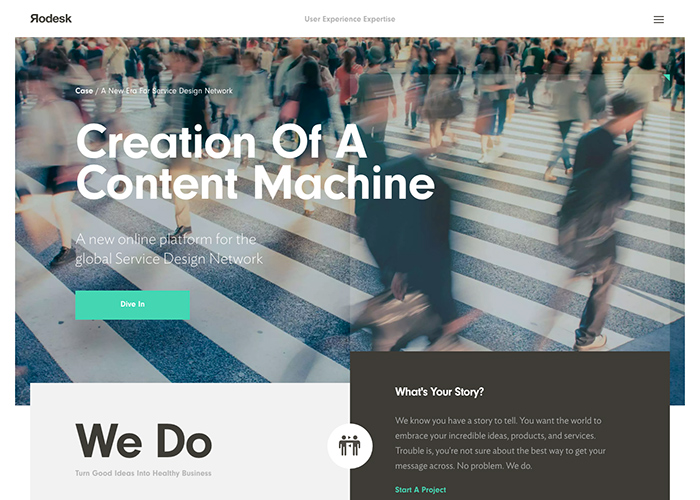 95 Inspiring Websites of Web Design Agencies