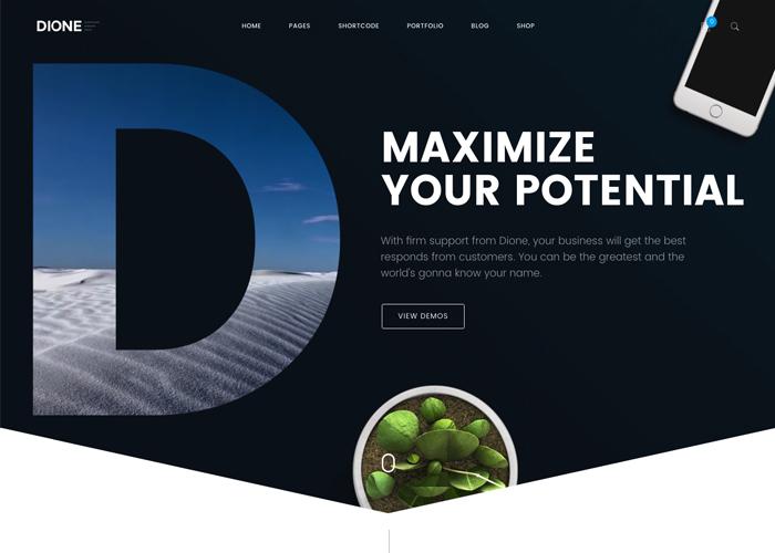 Dione - The Enterprise WP Theme