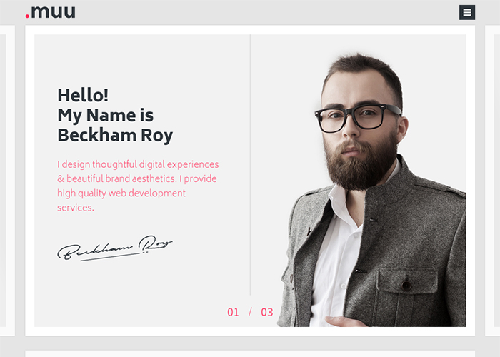 MUU Interactive Resume Portfolio Awwwards Nominee