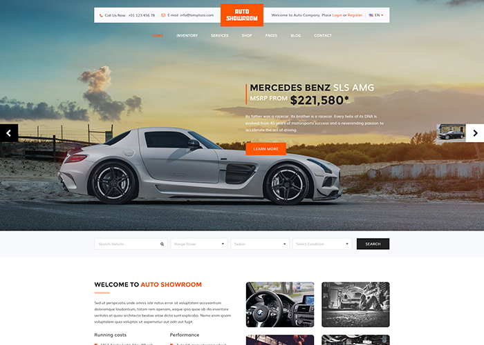 Auto Showroom - WordPress Theme - Awwwards Nominee