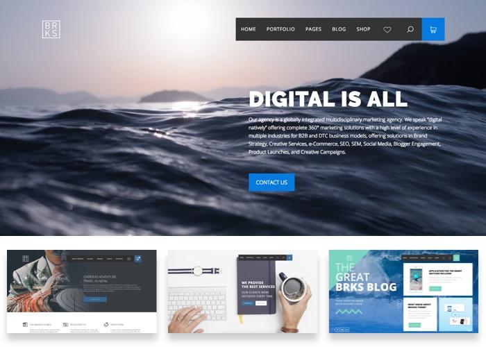 Brooks – Creative Multi-Purpose WordPress Theme