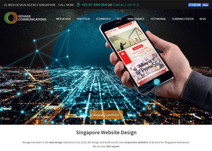 Novage Web Developer Singapore
