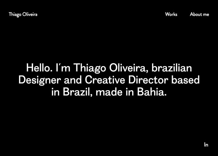 Thiago Oliveira - Designer and Creative Director