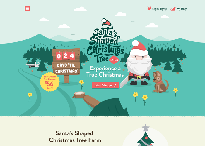 Santa's Shaped Christmas Tree Farm