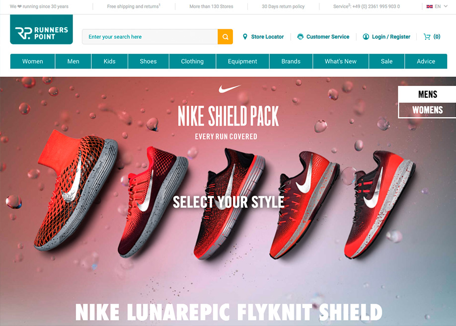 Runners Point Nike Shield Pack