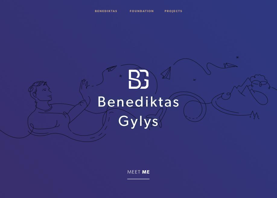 Benediktas Personal Website