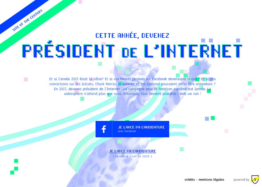 Le président de l'Internet