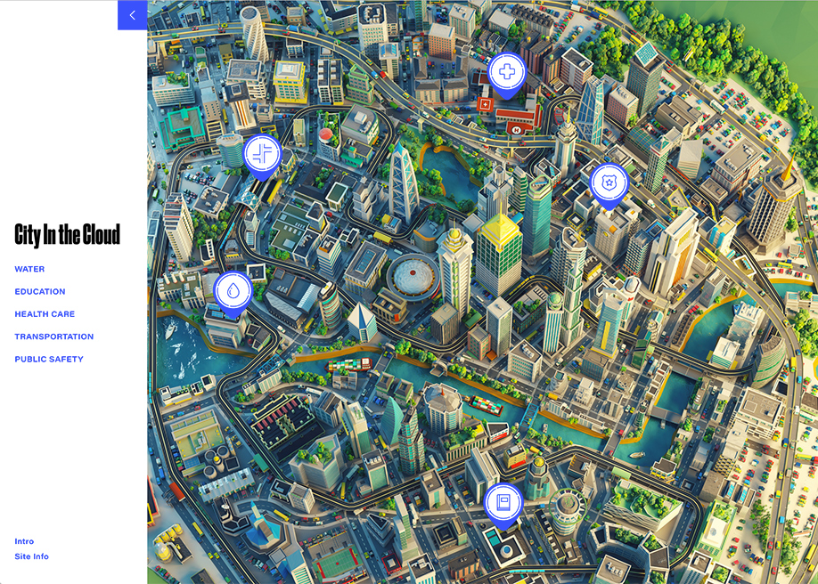 Microsoft's City In The Cloud