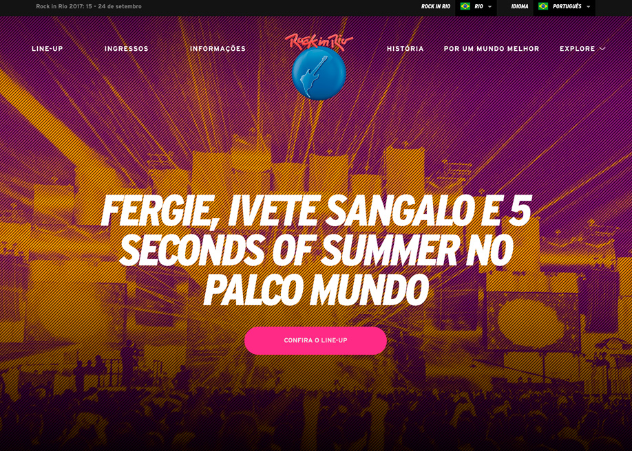 Line up rock in rio