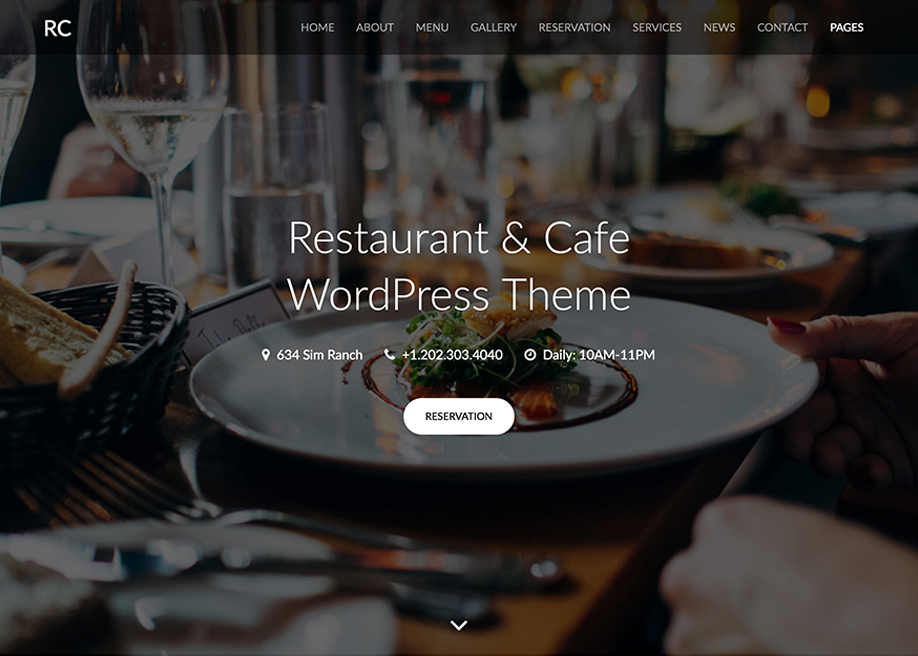 Rc - Restaurant & Cafe Theme