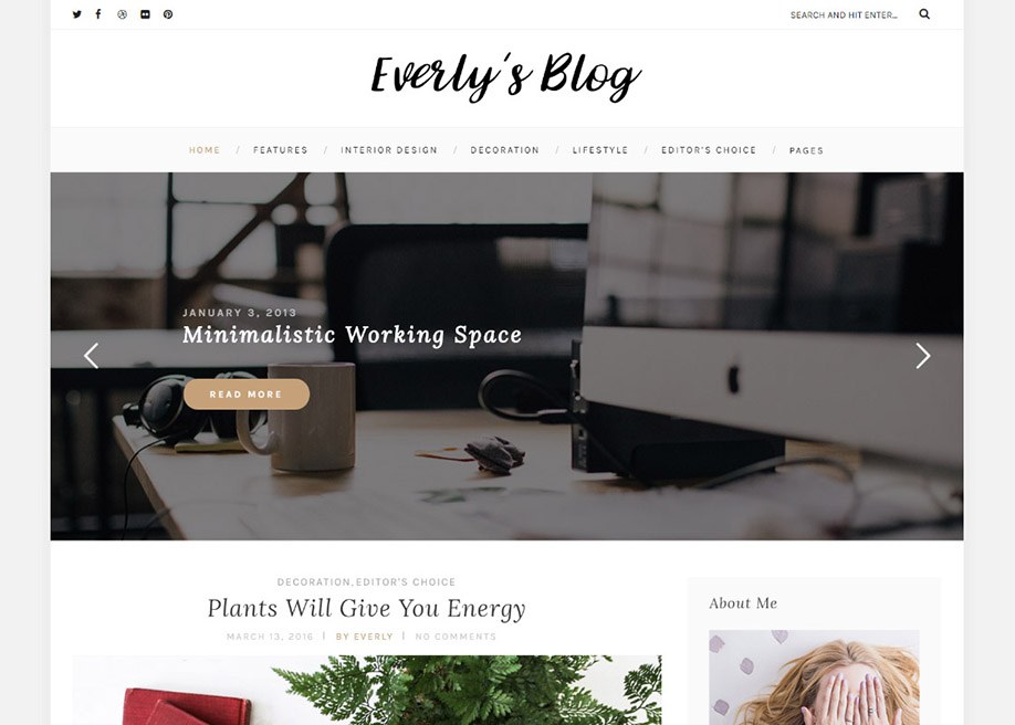 Everly – WordPress Blog Theme