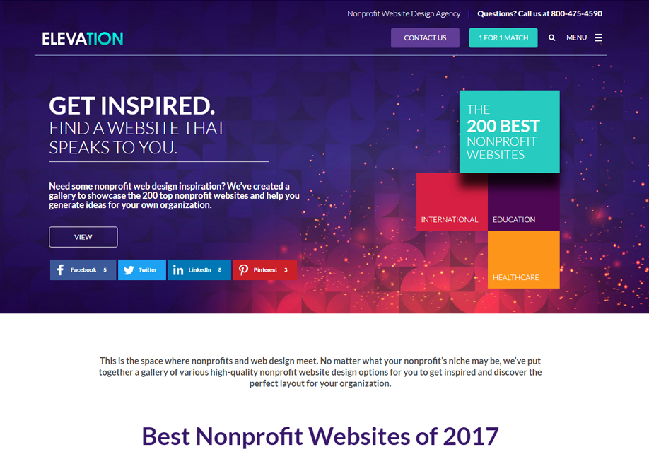 Best Nonprofit Websites   2017