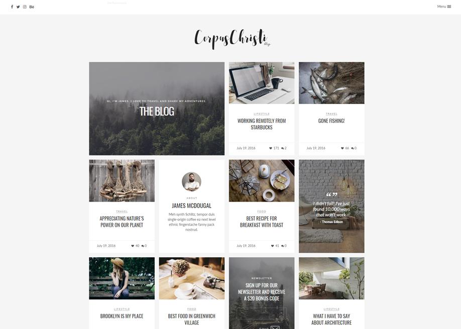 CorpusChristi - Modern Blog