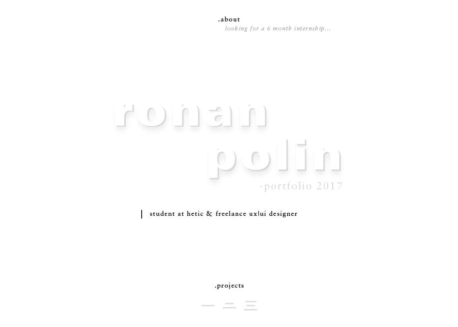 Ronan Polin - Portfolio