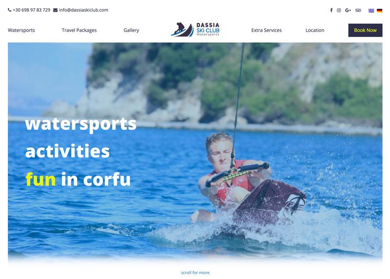 Watersports in Corfu Greece
