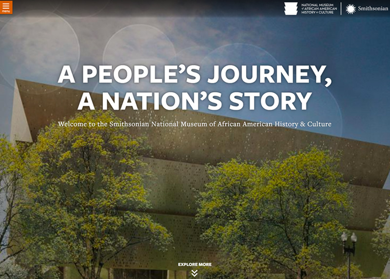 Smithsonian's NMAAHC website