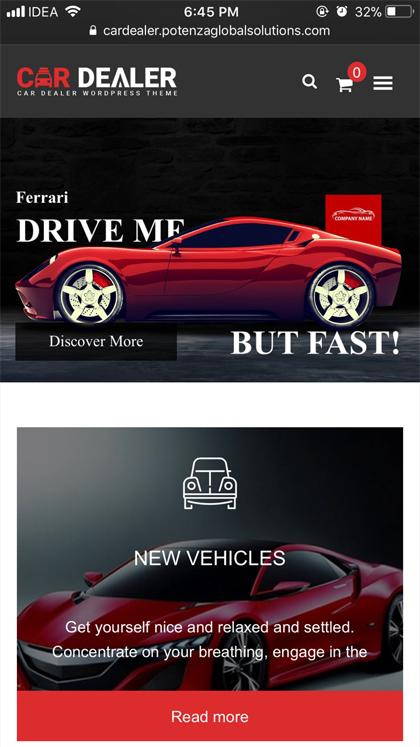 Car Dealer - Automotive Theme