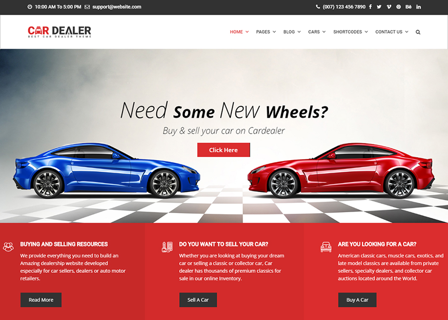 Car Dealer - Automotive Theme