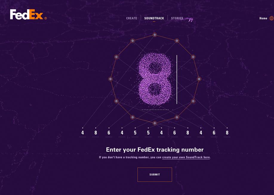 FedEx SoundTrack - Awwwards SOTD