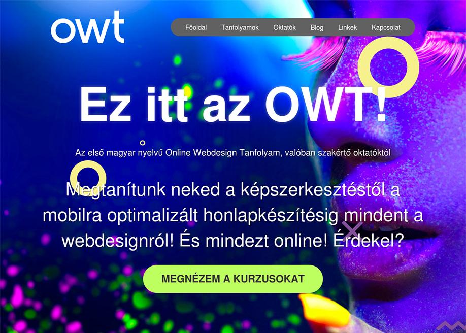 Online Webdesign Tanfolyam