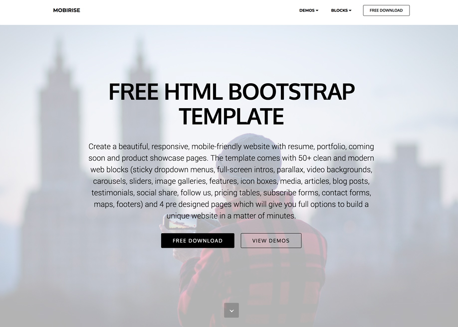 HTML Bootstrap Template - Awwwards Nominee