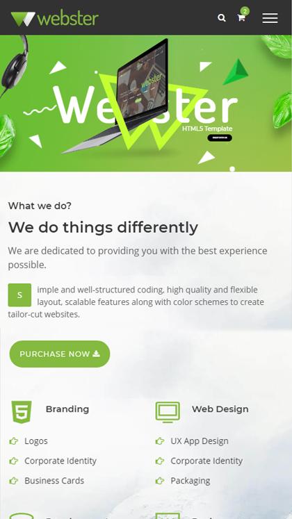 Webster HTML5 Template