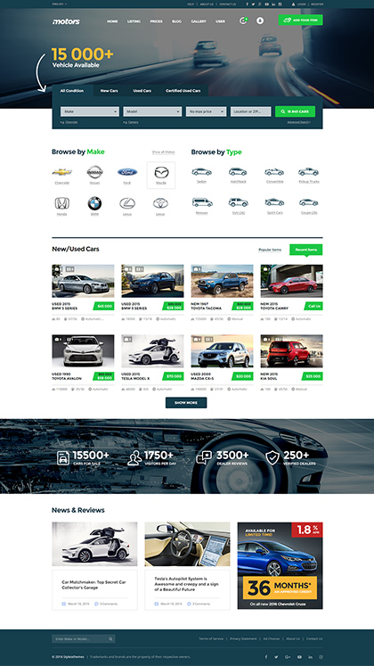 Motors - #1 Car Dealer Theme