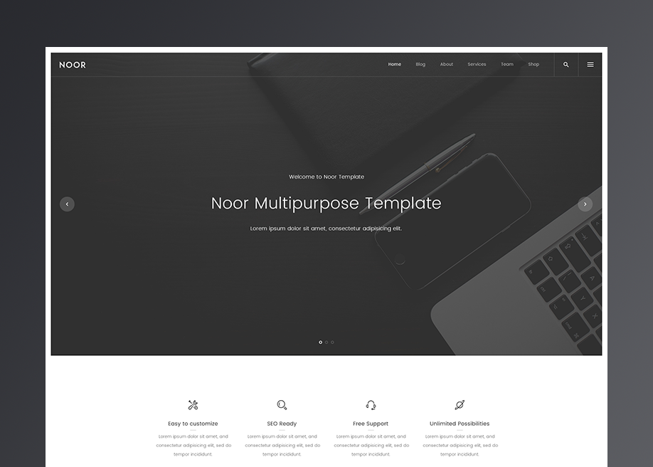 Noor | Unique WordPress Theme