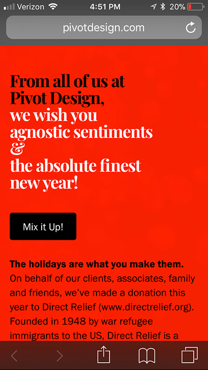 Pivot Design Happy Holidays