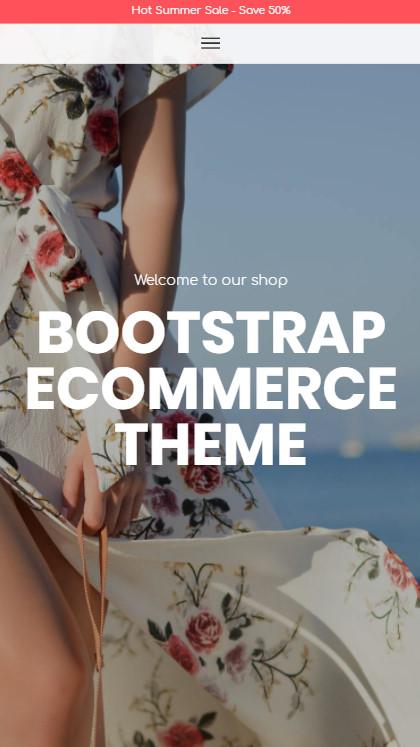 Bootstrap eCommerce Theme