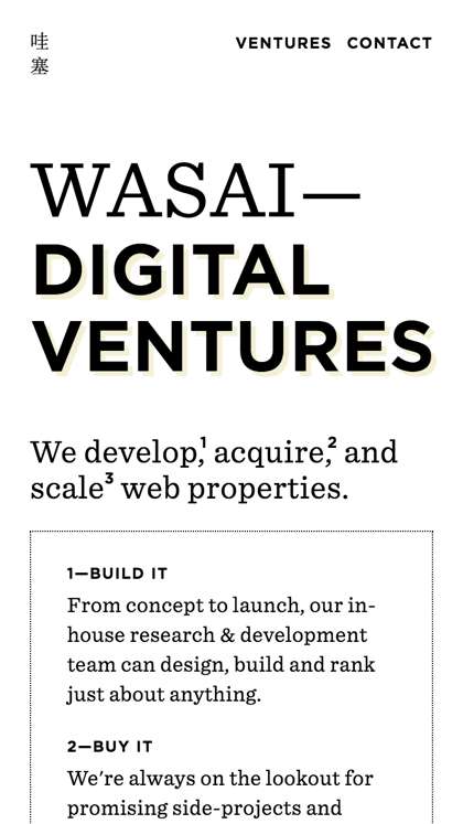 Wasai — Digital Ventures