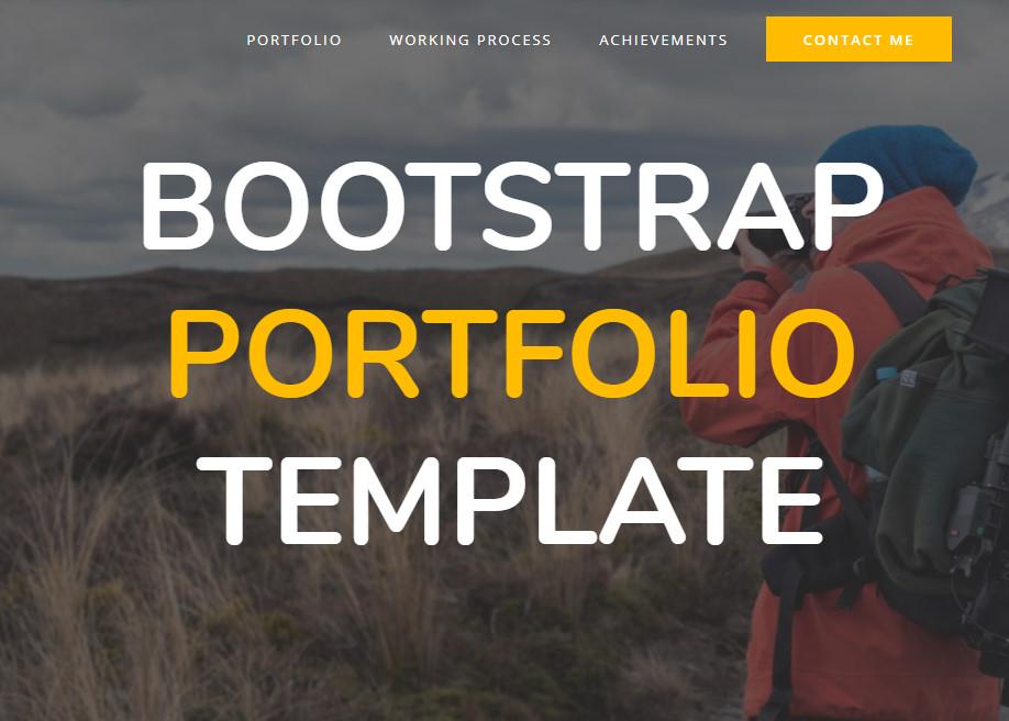 Bootstrap Portfolio Template